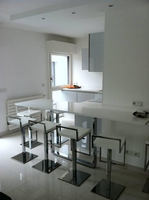 agence simoneau architecture int rieure appartement parisien homify. Black Bedroom Furniture Sets. Home Design Ideas