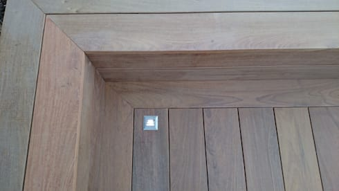 Ipe deck corner detail with hidden fixings: modern Garden by Paul Newman Landscapes