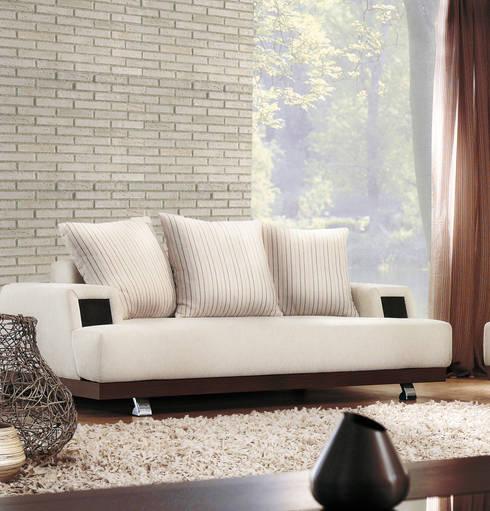 Ladrillo Nuevo Blanco: Paredes de estilo  por PANESPOL, Surface Lovers