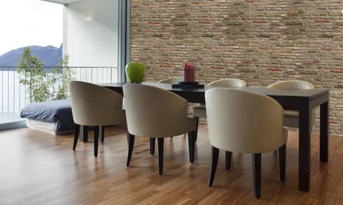 Ladrillo Viejo Teja: Paredes de estilo  por PANESPOL, Surface Lovers