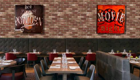 Urban Brick Rojo: Paredes de estilo  por PANESPOL, Surface Lovers