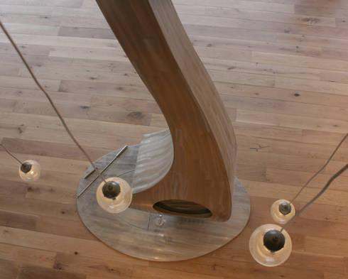 Bespoke sculptural fire: modern Living room by Firemaker