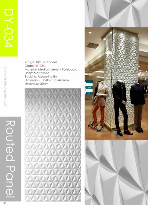 Routed  panel :  Walls & flooring by series supplies