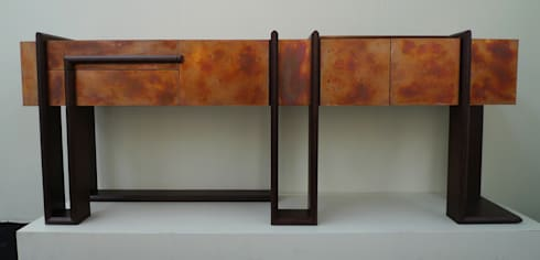 Sequenza Credenza by Andrea Felice: eclectic Living room by Andrea Felice - Bespoke Furniture