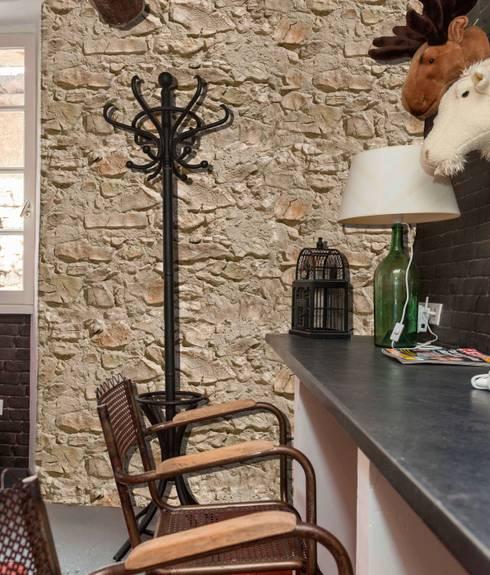 Piedra Segovia: Paredes de estilo  por PANESPOL, Surface Lovers