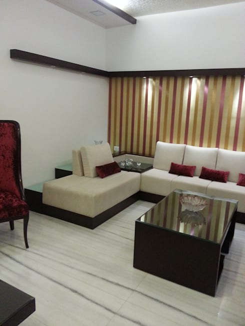 Living room: modern Living room by KathKarma Interior Designer & Space Planners