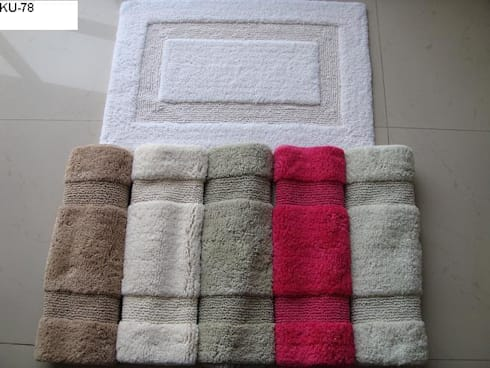 KU-78-BM  (100% super-soft cotton tufted bathmats): asian Bathroom by Kansal Udyog