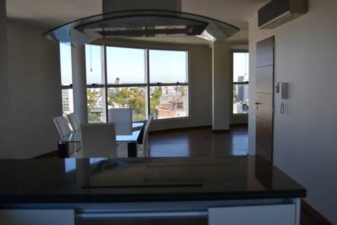 Departamentos de categoria: Livings de estilo minimalista por Edificios Alaro
