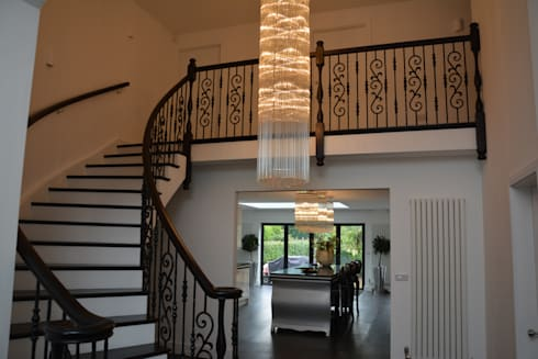 Lighting and Stairs as one .: classic Corridor, hallway & stairs by Sovereign Stairs