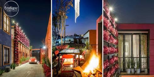 Estudio Coyoacan: Terrazas de estilo  por Boutique de Arquitectura  (Sonotectura + Refaccionaria)
