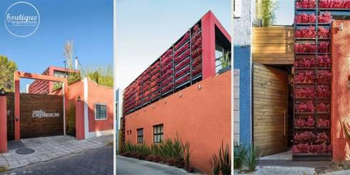 Estudio Coyoacan: Casas de estilo moderno por Boutique de Arquitectura  (Sonotectura + Refaccionaria)