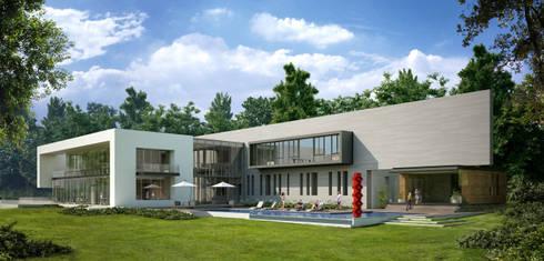 Residencia Alpine: Hogar de estilo  por Arditti+RDT Arquitectos