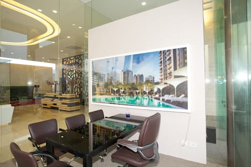 MICROTEK INFRASTRUCTURES-GREEN BURG PROJECT:  Offices & stores by FOYER INTERIORS