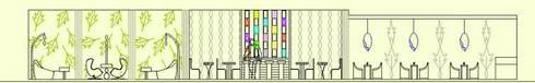 Elevation(lounge,restaurant,bar):  Hotels by Deepaakula Design