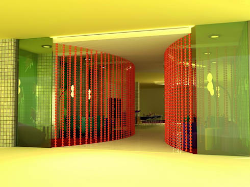 Lounge 3D view:  Hotels by Deepaakula Design