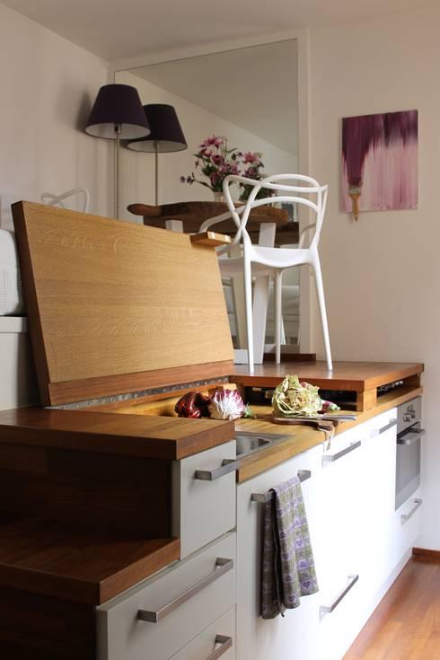 Cucina Mini Loft: Cucina in stile  di Arch. Silvana Citterio