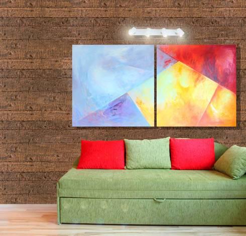 Tabla madera rústica Nogal: Paredes de estilo  por PANESPOL, Surface Lovers