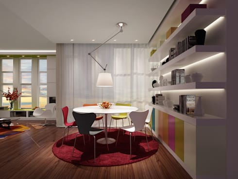 Residential Fitout, Changsha: modern Dining room by atelier blur / georges hung architecte d.p.l.g.