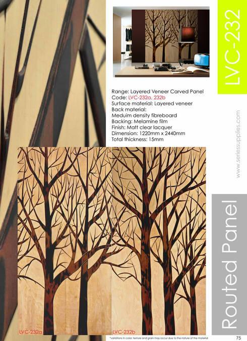 Layered Veneer Carved Panel:  Walls & flooring by series supplies