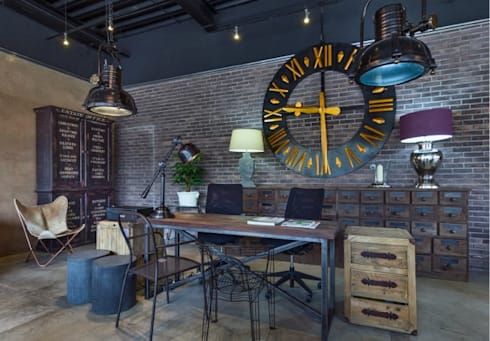 Showroom: Oficinas y tiendas de estilo  por La Ksa by Organitec