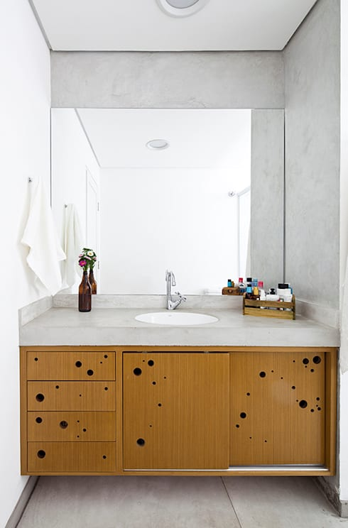 Baños de estilo  por Zoom Urbanismo Arquitetura e Design
