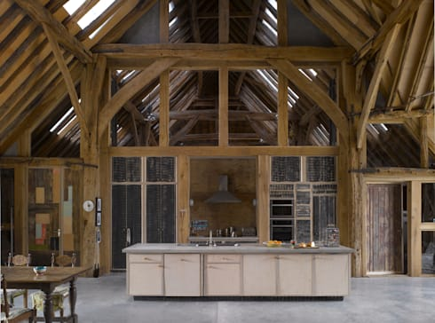 Feering Bury Farm Barn : eclectic Kitchen by Hudson Architects