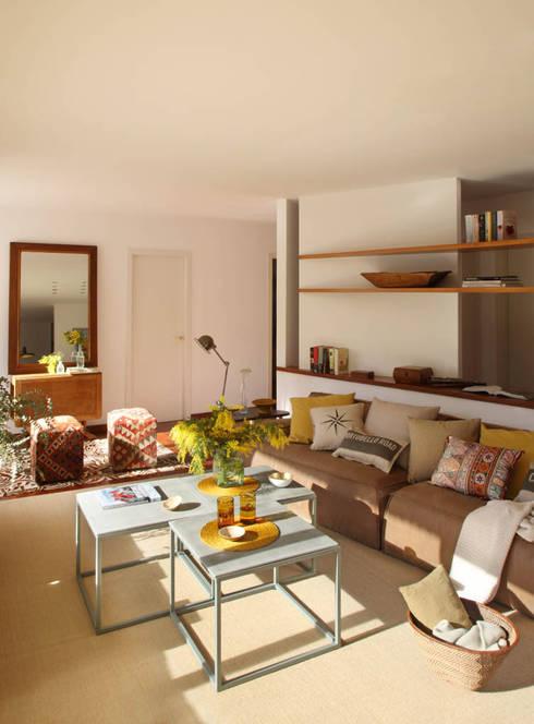 EG 4. Piso Barcelones: Salones de estilo  de BONBA studio