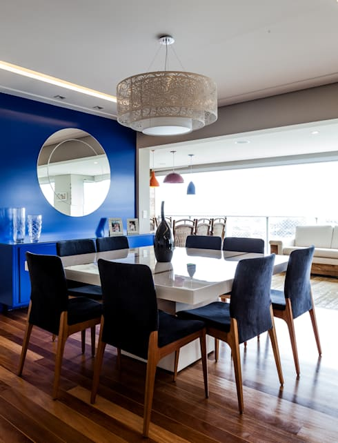 Jd. Marajoara: Salas de jantar  por Tikkanen arquitetura