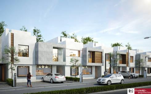 Conjunto Novaterra: Casas de estilo mediterraneo por disain arquitectos