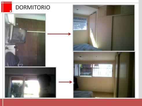 ampliacion y remodelacion de dormitorio:  de estilo  por Remodelaciones SF