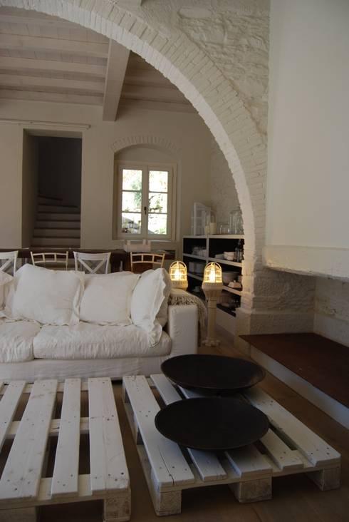Projekty,  Salon zaprojektowane przez Architetto Silvia Giacobazzi