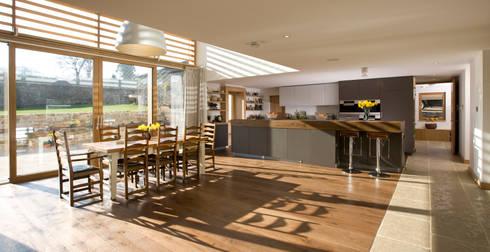 Le Camptrehard: rustic Kitchen by JAMIE FALLA ARCHITECTURE