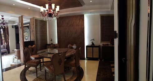 Dining Area: asian Houses by Oui3 International Limited