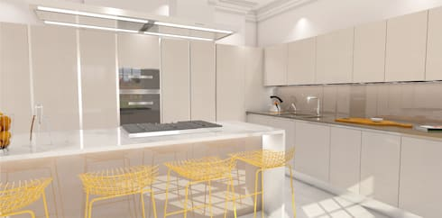 3D visuals for HUB KITCHENS - LONDON:  Kitchen by Outsourcing Interior Design