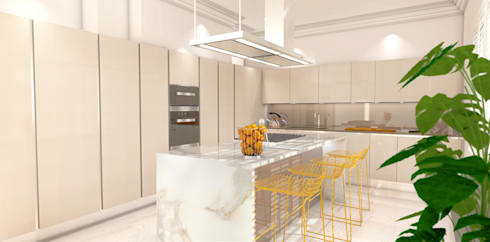 3D visuals for HUB KITCHENS—LONDON:  Kitchen by Outsourcing Interior Design