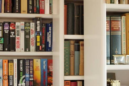 bibliothekswand von m ller tischlerei gmbh co kg homify. Black Bedroom Furniture Sets. Home Design Ideas
