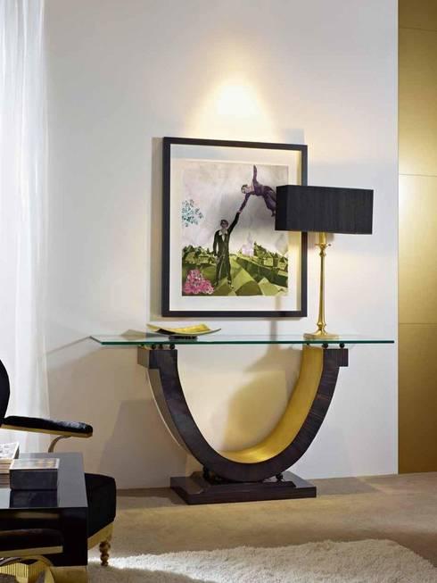 Consola Art Decó Eyon: Vestíbulos, pasillos y escaleras de estilo  de Paco Escrivá Muebles