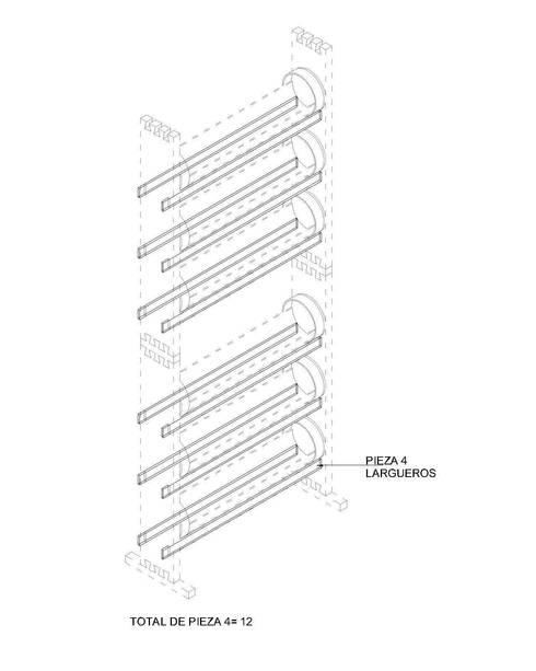 JARDINERA VERTICAL:  de estilo  por gOO Arquitectos