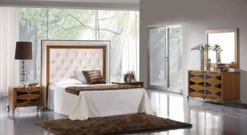 Colección de Dormitorio Art Decó Keren: Dormitorios de estilo moderno de Paco Escrivá Muebles