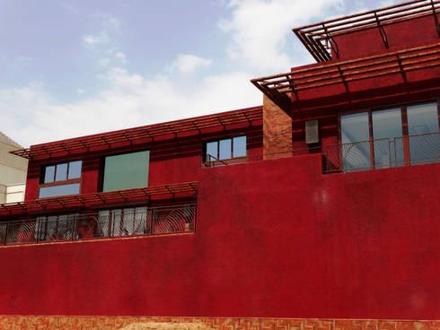 Riyadh House: Casas de estilo moderno por arqflores / architect