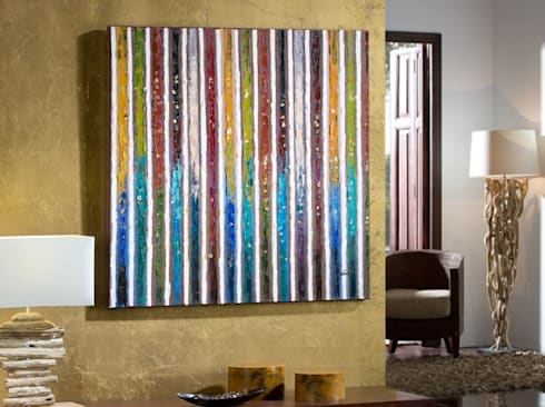 Cuadro Acrílico Abstracción I: Arte de estilo  de Ámbar Muebles