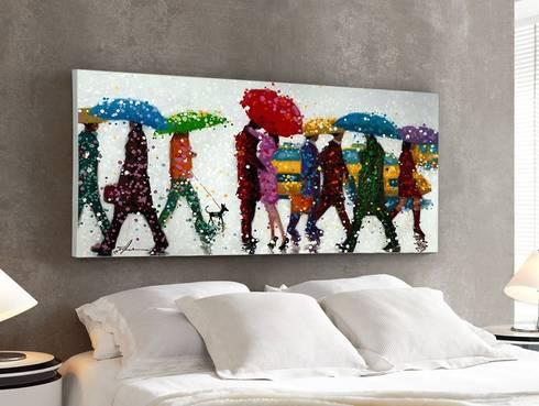 Cuadro Acrílico Umbrellas: Arte de estilo  de Ámbar Muebles