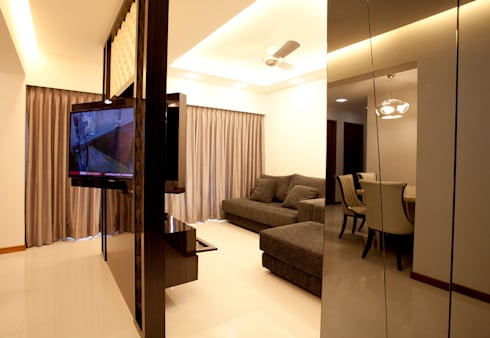 BTO Bukit Panjang: modern Living room by VOILÀ Pte Ltd