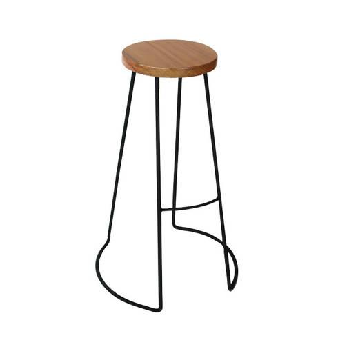 Banquetas de diseño en hierro y madera: Hogar de estilo  por Tabureto