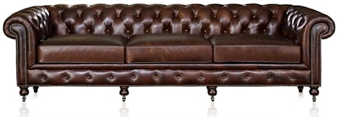 Leather Chesterfield Sofa: classic Living room by Locus Habitat