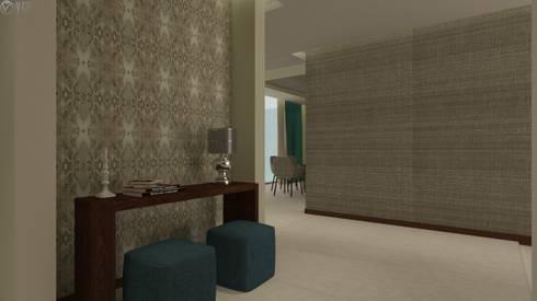 Proyecto  A.A : Pasillos y recibidores de estilo  por Beatriz Quiroz Interiorismo