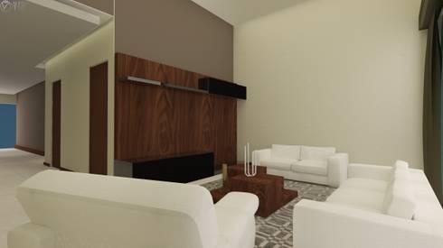Proyecto  A.A : Salas de estilo moderno por Beatriz Quiroz Interiorismo