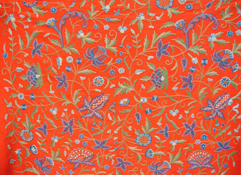 Crewel Work Fabrics: asian Living room by Crewel Fabric From Zia Enterprises