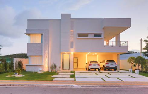 Projeto residencial de arquitetura e ambientação.: Casas modernas por Rita Albuquerque Arquitetura e Interiores
