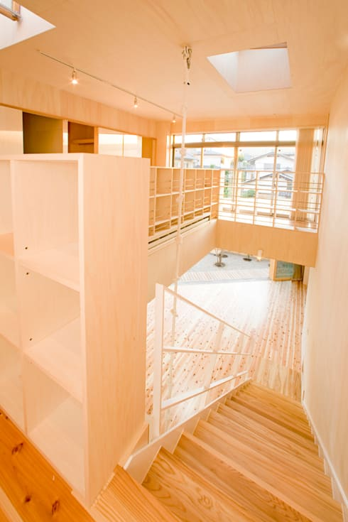 Pasillos y vestíbulos de estilo  de 松下建築設計 一級建築士事務所/Matsushita Architects